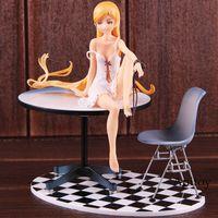 velhas figuras de ação venda por atacado-Nisemonogatari Oshino Shinobu Monogatari Figura Ação 12 Anos Ver. Brinquedo modelo colecionável de PVC de 1/8 de escala pré-pintado