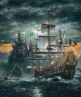 piraten-diamant großhandel-Gewitter Piraten Boot Diamant Malerei Magic Square Drill Leinwand Gemälde Stickerei Diy Home Decor Neue Mode Kunsthandwerk 20lf2 gg