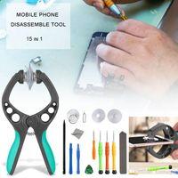 handy-reparatur-tools großhandel-15pcs Handy-Bildschirmöffnung Repair Tools Kit Schraubendreher-Set für iPhone