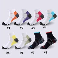 Wholesale fatigue running - Unisex Compression Socks Men Anti-Fatigue Plantar Fasciitis Heel Spurs Pain Sport Running Short Ankle Sock For Men Women