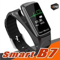 77bc0c84222d B7 Pulsera Inteligente Bluetooth Sports Reloj Inteligente Desmontable Música  Monitor de Ritmo Cardíaco Podómetro para Android Ios hombre mujer