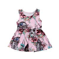 горячая розовая одежда дети оптовых-Hot Stylish Newborn Infant Baby Girl Dress Toddler Kid Party Princess Sleeveless Pink Tutu Dresses Outfit Summer Clothes 6M-3T