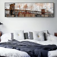 Wholesale city bridge paintings resale online - Vintage Bridge Wall Art Canvas Modern City Landscape Paintings On The Wall Print Art Posters Cuadros Pictures For Living Room