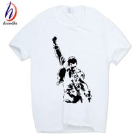Uomo Donna Stampa FREDDIE MERCURY T-shirt O-Collo maniche corte Estate Heavy Rock top100 band regina T Shirt HCP627