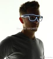 laranja, moldado, óculos venda por atacado-Vidros conduzidos especificação: moldura cor: preto cor da iluminação: azul, vermelho, laranja, verde, amarelo, rosa, roxo, gelo azul, fonte de alimentação: batte