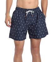 mesh shorts strand groihandel-Herren Designer Shorts Quick Dry Badehose Stripe Beach Shorts mit Mesh Liner Pockets Herren Stripe Casual Short Herren Swim Hot Trunks