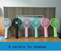 Wholesale wholesale handy fan - Handy Usb Fan Foldable Handle Mini Charging Electric Fans Snowflake Handheld Portable For Home Office Gifts RETAIL BOX