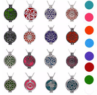 Wholesale diffuser pendant essential oils resale online - Aroma Diffuser Necklace Open Vintage Silver Lockets Pendant Perfume Essential Oil Aromatherapy Locket Necklace With Pads