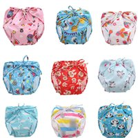 Wholesale baby swimming diapers resale online - 41 Style Adjustable Baby Swim Diaper Reusable Nappy Pants Infant Baby Boy Girl Reusable Swimwear Waterproof Swimming Diapers B001