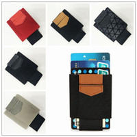 bant cüzdanlar toptan satış-5 Renkler 8.8 * 5.7 cm Elastik Kredi Kartı Tutucu Elastik Bant İş Mini Cüzdan Kart Setleri Cüzdan Kredi Tutucu Çanta CCA9052 100 adet