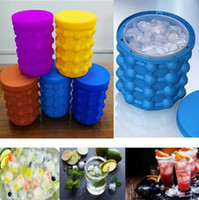 Wholesale Eu Stocks - 5 Colors Silicone Ice Cube Maker Genie The Revolutionary Space Saving Ice Cube Maker Ice Genie Kitchen Tools CCA9657 50pcs