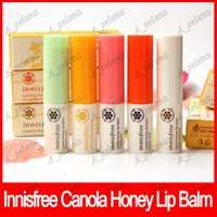 Wholesale pink lip tint online - Innisfree Canola Honey Lip Balm Tinted Pink Tinted Coral Deep Moisture Smooth Lip Care Korea Brand Colors