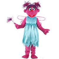Wholesale hot movies online - hot Abby cadabby Mascot Costume sesame street Abby mascot costume elmo