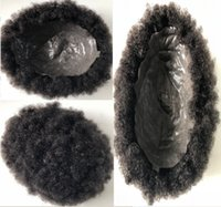 595aab277 Wholesale afro wigs for black men resale online - Full PU Afro Toupee Top  Selling Black
