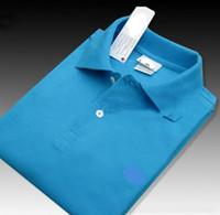 style de chemises de bureau achat en gros de-Vente en gros Bureau Bureau Polo Nouvelle Marque Hommes Vêtements Solide Hommes Crocodile Broderie Polo Chemises Casual Poloshirt Coton Respirant