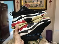 Wholesale closed toe blue heels for sale - Group buy New Triple S Shoes Men Women Sneaker High Quality Mixed Colors Thick Heel Grandpa Dad Trainer Triple S Casual Shoes With Elevator Shoes