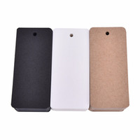 Wholesale Paper Punch Cards - 50 pcs Kraft paper hang tags Price Tag Blank Note Card Wedding Party Favor Price Punch Label Gifts Stationery Supplies