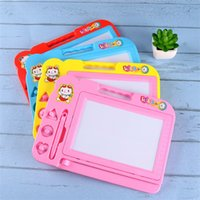 Wholesale toy plastic writing board online - Children Sketch Pad Magnetic Intelligence Toy Colour Graffiti Drawing Board Baby Creative Writing Painting Supplies Gift kl W