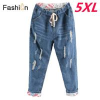 f3fcaf4bdaf07 2018 Boyfriend Denim Jeans for Women Mid Waist Straight Pants Woman Ladies Ripped  Loose Mom Jeans Girls Jean Pants Plus Size