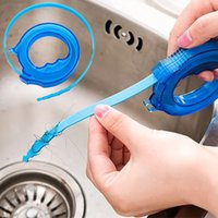 Wholesale bathroom pipes - 2018 Pipe Cleaning Hook Drain Snake Hair Drain Clog Remover Sewer Hook Cleaning Tool for Bathroom Toilet Kitchen Free DHL WX9-247