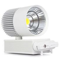levou luz de teto cozinha 3w venda por atacado-LED Track Light 30 W COB luzes de Trilho de Teto Para Pingente Cozinha Loja de Sapatos Loja de Sapatos Branco shell Lâmpadas Spot Iluminação
