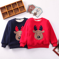 Pudcoco 2017 Winter Warm Christmas Hoodies Toddler Kid Boy Girl Clothes Print Deer Top Sweatshirt For Kids Outfit