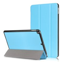 Wholesale ipad leather stylus - Ultra Slim Smart Case Trifold Flexible Stand Cover for New Ipad 9.7 inch 2017 Back Cover +Stylus Pen