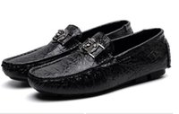 Wholesale drivers shoes - 2018 fall high quality mens Multicolor Genuine Leather luxury buckle Loafers Medusa Driving slippers driver shoes Plus Size EUR38-47 NX2A31