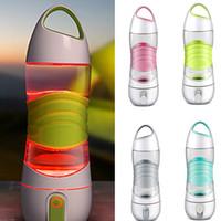 botellas brillantes al por mayor-Luz LED inteligente Botella de agua Pistas La ingesta de agua se ilumina para recordarle que permanezca Luces de la noche Sos Emergencia Deporte Taza Taza Hervidor WX9-232