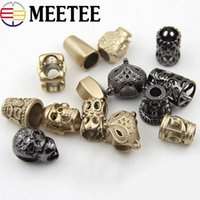 Wholesale cord stoppers wholesale - 50PCS Metal Hanging Strap Rope Spring Button Lock Cord End Stopper Toggle Clip for Paracord Bag Sports Shoes Garment Accseeory