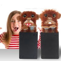 pelzknopf großhandel-Kreatives Sneekums-Haustier-Pranksters zittert Pelz-Partei-Geschenke Lustige Tricks furchtsamer Monster-Affe spielt Knopf-Draht-Modus 15 9gf YY