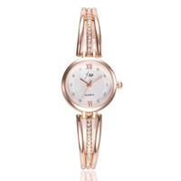 имитация наручных часов для женщин оптовых-Bracelet Watch For Women Ladies Fashion Quartz-watch Female Imitation Diamond Wristwatch Watches For Women Female Watch #7