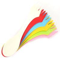 Wholesale utensil for sale - Group buy 6pcs set Multifunction Spoon Fork Knife Camping Hiking Utensils Spork Combo Travel Cutlery for Baby Kids