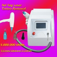 Wholesale water cooled air - 2018 new laser machine for tattoo removal nd yag long pulse laser tattoos equipment 10hz Frequency Water cooling+air cooling
