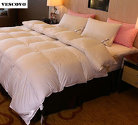 kral yatakları için battaniyeler toptan satış-Toptan-Yorgan Yorgan Battaniye% 95 Avrupa Kralı Kaz tüyü - Üst Sınıf Dünya Çapında Otel yatak