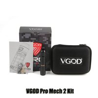 Wholesale mech atomizer - 100% Original VGOD Pro Mech 2 Kit 24mm Diameter ProMech 2 Mechanical Mod 2ml Elite RDA Atomizer Genuine