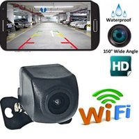 Wholesale car reverse parking camera wireless online - 2018 New WiFi Wireless Car Rear View Cam Backup Reverse Camera For iPhone Android ios HD