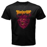 siyah ağır metal toptan satış-Yeni Kvelertak Band Zombi Viking Ağır Metal Grubu erkek Siyah T-Shirt Boyutu S-3XL