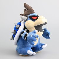"Wholesale Bones Video - 100% Cotton Super Mario Bros 3D Dry Bones Dark Bowser Koopa Plush Doll Stuffed Toy For Gifts Size 11"" 28cm"