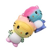 Wholesale free stress toys for sale - Group buy Squishy Simulation Tiger Comfortable Jumbo Squishies Slow Rising Pu Bread Creative Decompression Toys Reduce Stress df W