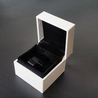 caixa de exposição de anel de veludo preto venda por atacado-Embalagem original da jóia quadrada branca caixas originais para encantos de Pandora Brincos pretos do anel de veludo da exposição Caixa de jóia