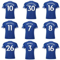 26 shirt 2018 - Everton Home 18-19 Customized 4 Keane 11 Walcott 26 Davies 13 Y.Mina Gana 17 Sigurdsson 10 Gana 17 Thai Quality Soccer Jerseys Shirts tops