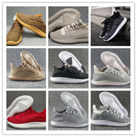 Wholesale flat cardboard - Wholesale 2018 Mens Womens Running Shoes Originals Tubular Shadow shoes Knit Cardboard Sneakers 350 boost 3D Sneakers outdoor shoes 5-11