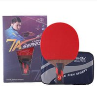 Wholesale loop master - Double Fish Master 7A Table Tennis Bat Ping Pong Racket racquet sports carbon blade fast attack loop Raquete De Ping Pong