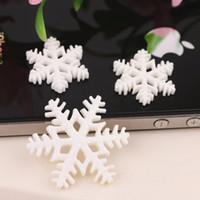 Wholesale Christmas Flat Back Resins - White Snow Flake Merry Christmas Resin Flat Backs Craft MIni Christmas Decoration Supplies