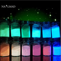Wholesale fluorescent nail polish colors for sale - Group buy 12 Colors Luminous Nail Polish Powder Glow in the Dark Glow Powder Luminous Pigment Fluorescent