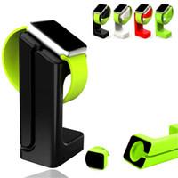 apple iwatch charging toptan satış-Apple için şarj Standı Braketi Tutucu İzle Iwatch E7 Perakende paketi ile Mevcut Renkler Masaüstü Şarj Istasyonu