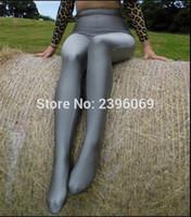 legging de lycra apretado al por mayor-(LG013) Unisex Lycra Spandex Medias Color sólido Opaco Zentai Legging Fetish Wear Personalizar Tamaño