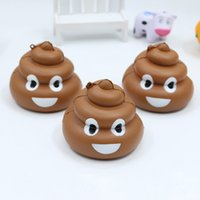 Wholesale Poo Soft Toy - Cute Cartoon Emoji Poo Shaped Slow Rising Soft Squishy Toys 7.2cm Children Adult Stress Relief Squeeze Vent Toys Gift for Kids