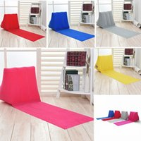 Wholesale inflatable beach pad - 5 colors 150*38*46cm Inflatable Beach Mat Outdoor mattress Pad Flocking Triangle Inflatable Pillow Cushions sofa Benche AAA541